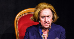 A portrait of Pip Utton as Margaret Thatcher in 'Playing Maggie' at the Assembly Rooms for the 2015 Edinburgh Fringe.